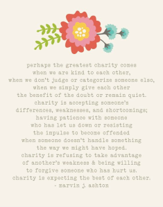 Be kind. Don't judge. Give.